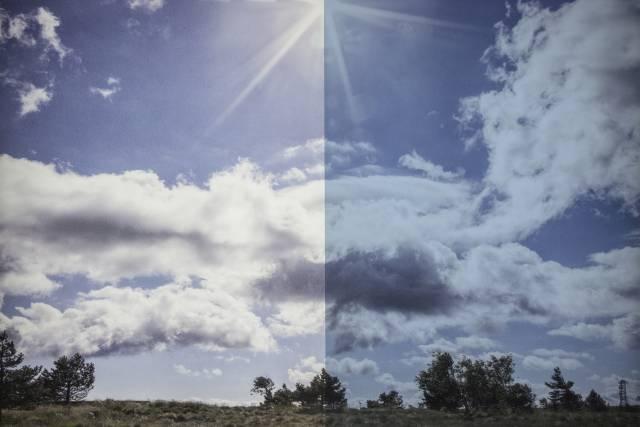 Sonnenschutzfolie BL 20 Blau Aussen
