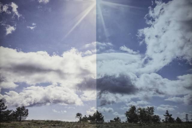Sonnenschutzfolie BL 20 Blau innen